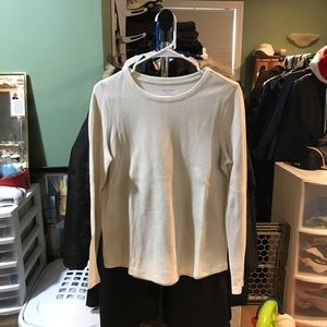 White long sleeve thermal